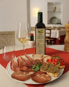Antipasti misti ristorante Orvieto